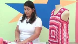 getlinkyoutube.com-Regata em square de croche com Camila fashion com Cristina Amaduro