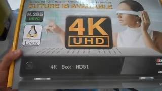 getlinkyoutube.com-Ax 4K Box E2 Linux UHD HD51 Satellite Receiver