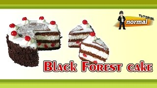 getlinkyoutube.com-Polymer Clay Fimo - Black Forest cake - *normal Tutorial*