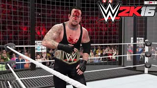 getlinkyoutube.com-WWE 2K16- WWE World Heavy Weight Championship Elimination Chamber Match 2015 (PS4)