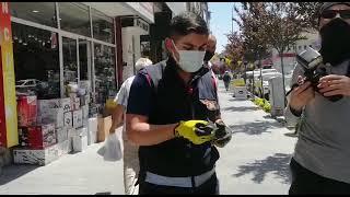 Kanadına ip dolanan kuşu Nevşehir itfaiye ekipleri kurtardı