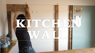 getlinkyoutube.com-[DIY] キッチンに壁を作ってみた!その1 ☆ Making Kitchen Wall #1
