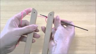 getlinkyoutube.com-Basico 1 - Como colocar fio no tear de grampo