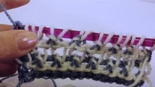 getlinkyoutube.com-Tunisian Crochet: Spider Lace Baby Afghan