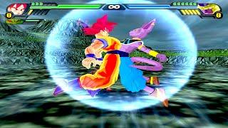 getlinkyoutube.com-Goku and Beerus Fusion | Billku vs Golden Frieza | DBZ Budokai Tenkaichi 3 (MOD)