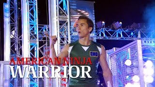 getlinkyoutube.com-Sean McColl at Stage 2 of American Ninja Warrior USA vs. The World 2014 | American Ninja Warrior