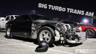 CRAZY-1000hp-Turbo-Trans-Am-takes-on-Twin-Turbo-Mustang-MORE-MUST-WATCH-STREET-RACING width=