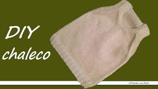 getlinkyoutube.com-Cómo tejer chaleco o jersey sin mangas para bebé 1a de 2 partes
