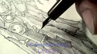 getlinkyoutube.com-Pen and Ink Cross Hatching Masters Edition
