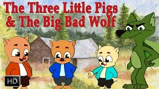 getlinkyoutube.com-The Three Little Pigs and Big Bad Wolf | HD Animated Fairy Tales for Children | Full Story