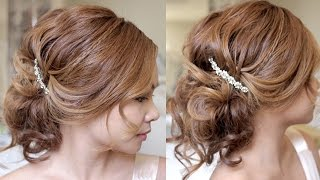 getlinkyoutube.com-Romantic Summer Wedding Updo Hair Tutorial