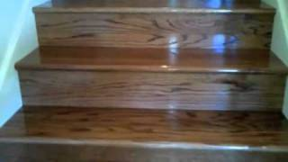 getlinkyoutube.com-Carpet Stairs to Stained Oak Stairs