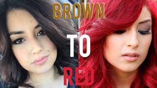 getlinkyoutube.com-From Brown Hair to Bright Red Hair (without Bleach)