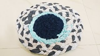 getlinkyoutube.com-Easy to make doormat with waste cloth