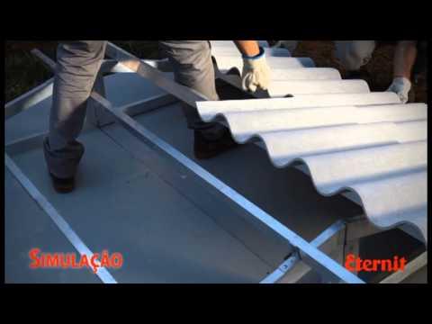 Montagem, limpeza e pintura do telhado