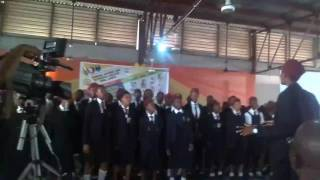 Students of the Federal Science and Technical College, Yaba Lagos singing at the 2017 Valedictory