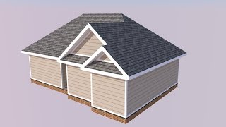 getlinkyoutube.com-SketchUp Project House Model - Roofing Tutorial
