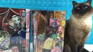 getlinkyoutube.com-MH Frankie Stein Freak Du Chic Mouscedes King Boo York Monster High Doll Unboxing