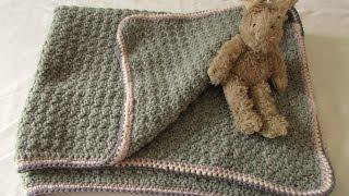 getlinkyoutube.com-VERY EASY crochet baby blanket for beginners - quick afghan / throw