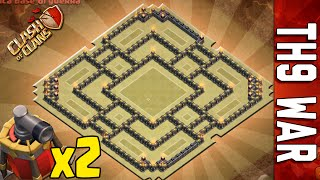 getlinkyoutube.com-WAR BASE TH9 #7 | DOUBLE AIR SWEEPER | NEW SUMMER UPDATE