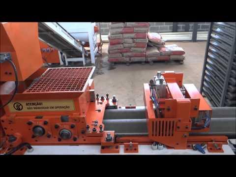 MÁQUINA DE TELHA DE CONCRETO - NOWO MÁQUINAS  Concrete roof tile machinery