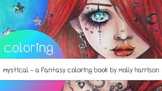 getlinkyoutube.com-Coloring Book Journey - 014 Mystical by Molly Harrison