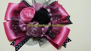 getlinkyoutube.com-Como elaborar moños y flores fáciles,How To Make a Hair Bow,No. 321