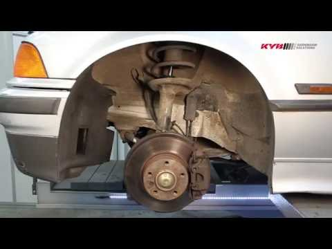 BMW 3-series E36 - FRONT - Передние амортизаторы KYB установка