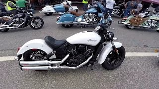 getlinkyoutube.com-Indian Scout Sixty vs Harley Roadster, Laconia 2016