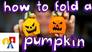 getlinkyoutube.com-How To Make An Origami Water Bomb Pumpkin