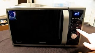 getlinkyoutube.com-Samsung MG23F301TAS Microwave Unboxing and first use