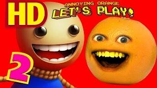getlinkyoutube.com-Annoying Orange Plays - BUDDYMAN KICK!