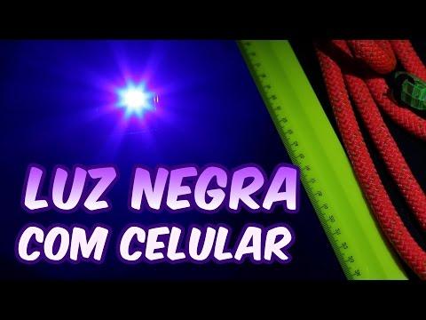 Como fazer luz negra caseira usando celular