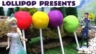 getlinkyoutube.com-Play Doh Lollipops   Thomas & Friends   Frozen Elsa Anna Surprises Minions Peppa Pig Cinderella