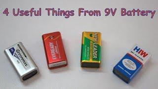 getlinkyoutube.com-4 Useful Things From 9V  Battery