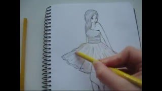 getlinkyoutube.com-How to draw a girl in a yellow dress