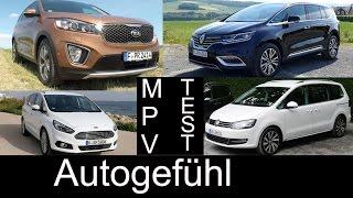 getlinkyoutube.com-Best Fullsize MPV Van comparison test Renault Espace vs VW Volkswagen Sharan Ford S-MAX Kia Sorento