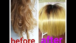 getlinkyoutube.com-How to REVIVE old matted synthetic wig tutorial