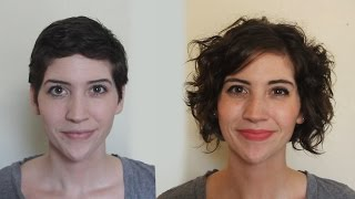 getlinkyoutube.com-Pixie to Curly Bob One Year Timelapse