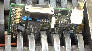 getlinkyoutube.com-Shredding computer scrap, IT parts, electronic components