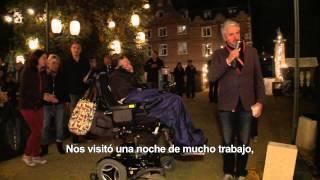 LA TEORÍA DEL TODO - Stephen Hawking visita el rodaje