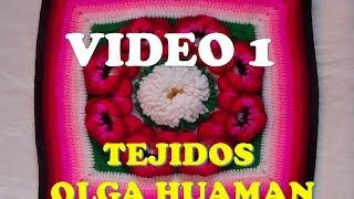 "getlinkyoutube.com-colcha a crochet : video 1, muestra ""pensamiento"""