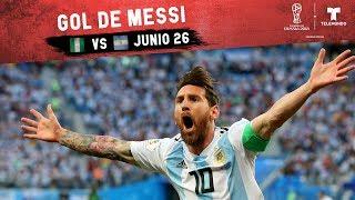 Gol de Messi: Highlight Nigeria vs Argentina   Copa Mundial FIFA Rusia 2018   Telemundo