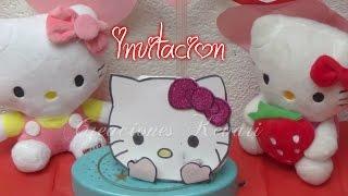 getlinkyoutube.com-Invitación de Hello Kitty, Fácil y económica.DIY Tutorial   Birthday Invitations