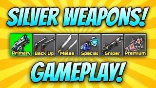 Pixel Gun 3D - Silver Weapon Gameplay!