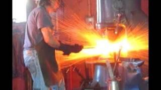 getlinkyoutube.com-Making Damascus Steel, from Stack to Steel HD.