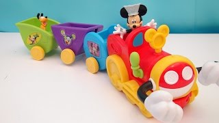 getlinkyoutube.com-MICKEY MOUSE CLUBHOUSE WOBBLE BOBBLE CHOO CHOO TRAIN DISNEY VIDEO TOY REVIEW