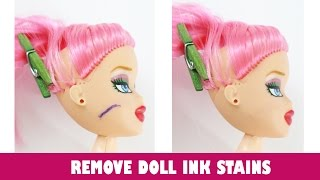 getlinkyoutube.com-How to remove Ink, Marker, Pen, Sharpie, Dye, and other Ink stains from your doll's face and body