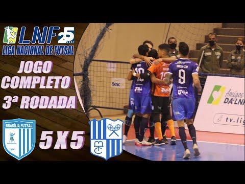 JOGO COMPLETO: Brasília Futsal 5 x 5 Minas - 3ª Rodada LNF 2020 (04/09/2020)