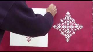 getlinkyoutube.com-painting damask stencil